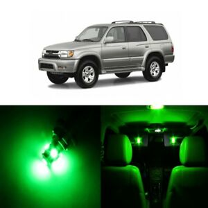 11 x Green LED Interior Lights Package For 1997 - 2002 Toyota 4Runner + PRY TOOL