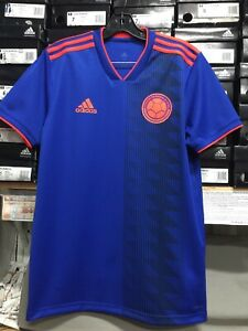 a6b2366f3 Adidas Colombia Away Jersey 2018-19 Blue Orange Size Small Only | eBay