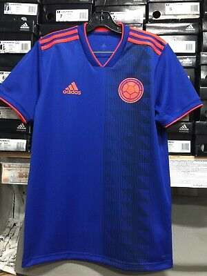 Adidas Colombia Away Jersey 2018-19 Blue Orange Size Small Only | eBay