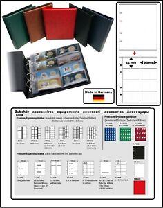 Look-Album-pour-la-Monnaie-Optus-Noir-Coincards-5x-Pochettes-Zwl-W-40
