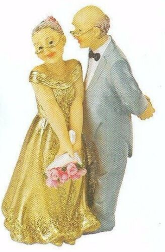 GOLDEN WEDDING ANNIVERSARY CAKE TOPPER DECORATION