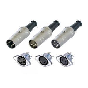 Conector-DIN-enchufe-hembra-metal-3-5-7-pol-diodos-conector-yelmos-Neutrik-rean
