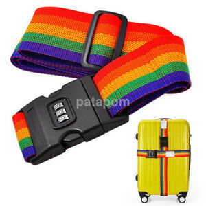 Travel-Luggage-Suitcase-Cross-Strap-Baggage-Bag-Backpack-Belt-With-Coded-Lock-US