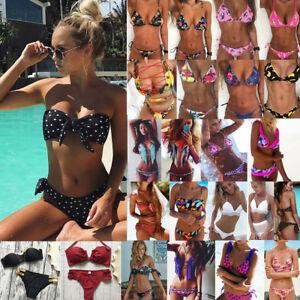Women Summer Swimwear Bikini Set Push-up Padded Bra Bathing Suit Swimsuit Lot