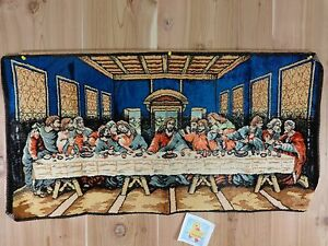 Image Is Loading Vintage Last Supper Tapestry 20 034 X 40