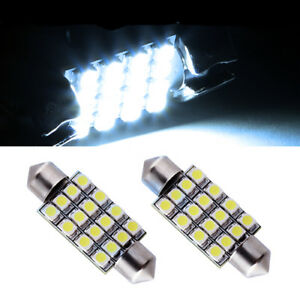 2 ampoules à LED navette 41 mm  éclairage lumière  plafonnier  blanc froid