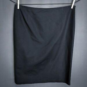 Ralph-Lauren-LRL-Womens-Skirt-Size-12-Black-Career-Knee-Length-Straight-Pencil