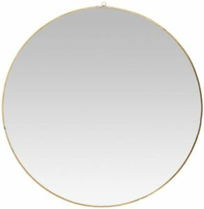 Round-Wall-Hanging-Mirror-With-Gold-Rim-by-Ib-Laursen-59-cm