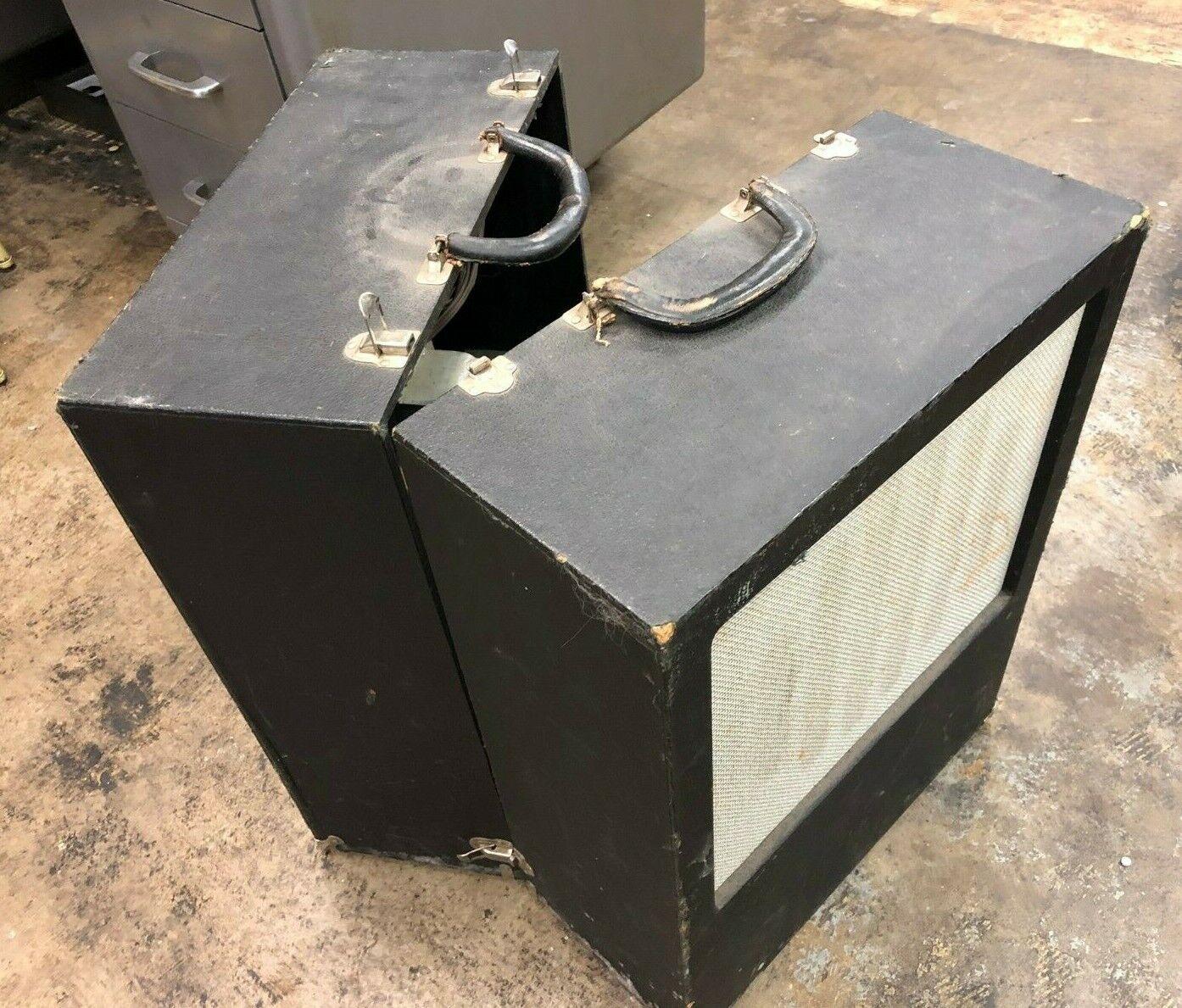 Vintage Rare Argos SC-2DS Sound Caddy with Dukane S9945A Speakers, schwarz Locking