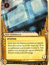 Android Netrunner LCG - 1x Red Herrings  #091 - Cyber War Corporation Draft Pack