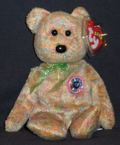TY SPECKLES the BEAR BEANIE BABY - MINT with MINT TAGS