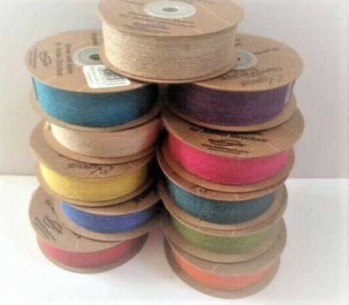 11 Colores//4 anchos ** ** Carretes Completo Cinta De Tejido Yute Eleganza abierto