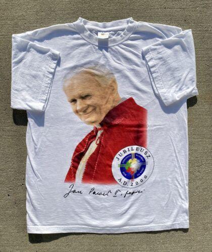 Vintage 2000 Y2K Pope John Paul II Religious Mega