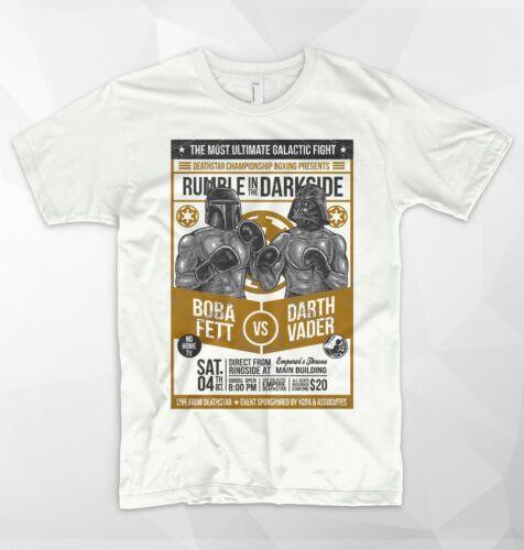 Darth Vader T Shirt Boba Fett Muhammad Ali VS George Foreman Boxing Star Wars