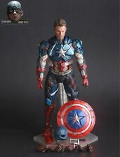 09# Marvel Universe Avenger Captain America Crazy Toys Action Figure Display Toy
