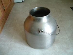 Stainless steel milk bucket cream can milking milker cow goat dairy ss