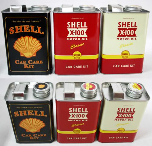 Shell car care kit x3 vintage//retro style for 90 years collectable Brand new
