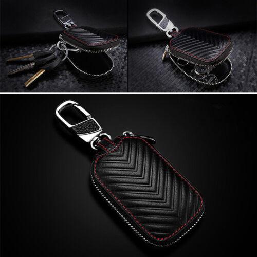 Superb Genuine Leather Car Key Cover Holder Key Fob Case Bag Universal For Cars