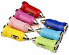 Universal Mini USB Car Charger Adapter For iphone Cell Phone colors blue