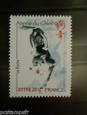 FRANCE 2006, TP 3865 NOUVEL AN CHINOIS ANNEE CHIEN, neuf**, MNH STAMP, CHINA DOG