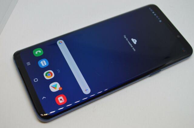 Samsung Galaxy S9+ SM-G965U 64GB Blue GSM UNLOCKED AT&T TMOBILE VERIZON #L195