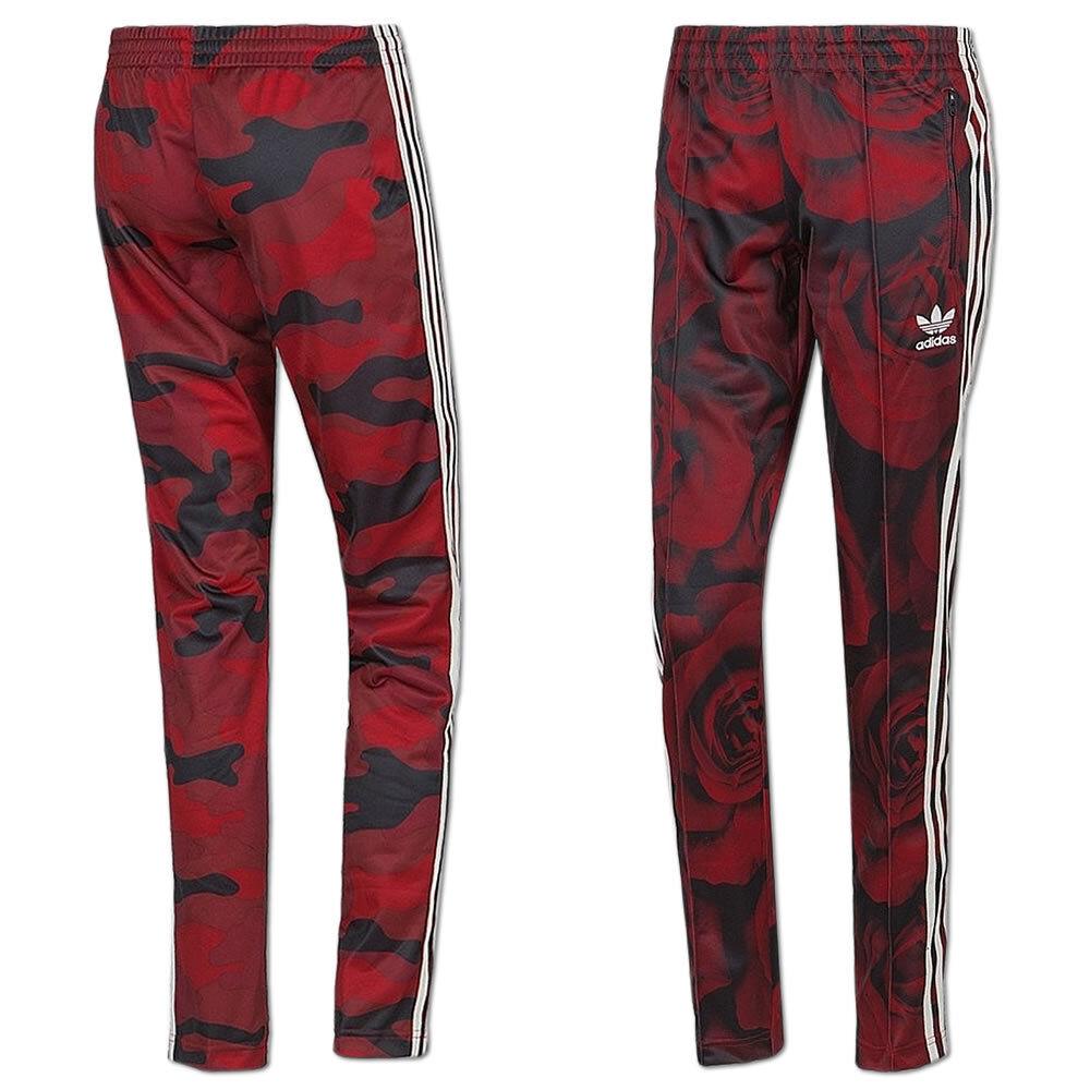 Adidas Damen Originals rot Clash Pant Hose Trainingshose Jogginghose rot-schwarz  | Spezielle Funktion