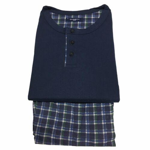 456 uomo Pigiama cotone Guasch blu Gp161 D shirt stampa Pantaloni con in T ARFgqUww7W