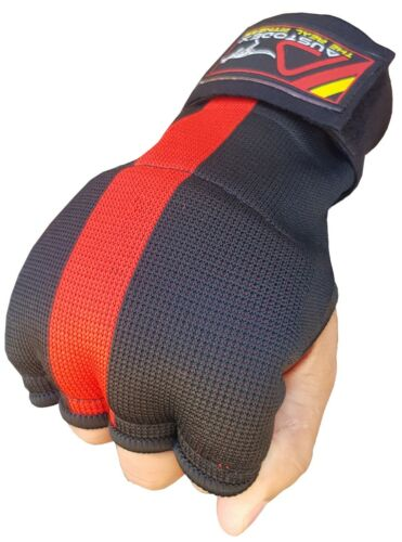 Austodex Fist Gel Bandages MMA boxing Inner Quick Hand Wraps Gloves straps black