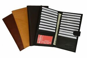Genuine-Leather-Credit-Card-Holder-Wallet-19-Card-Slots-1-ID-Window-with-Snap