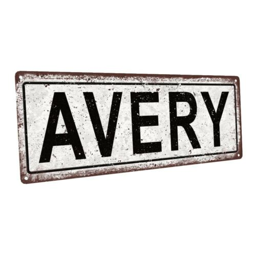 Avery Metal Sign; Wall Decor for Kids Room or Nursery