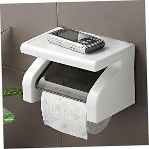 Wall-Mounted-Plastic-Waterproof-Toilet-Roll-Paper-Box-Holder-Bathroom-Tool-yY