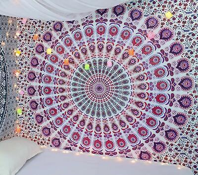 Lord Ganesha Mandala Twin Wandbehang Indisch Baumwolle Deko Tuch Tappisserie
