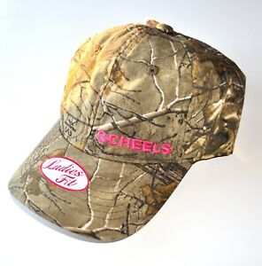 f967c7c29 Details about New Ladies Fit Scheels Hat Realtree Camo with Pink Embroidery  Adjustable
