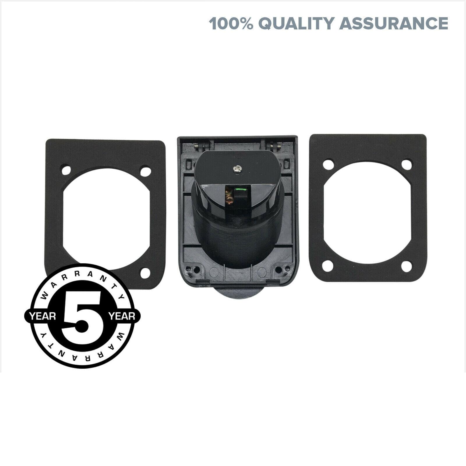 Black 10a Amp 240v Single Power Point Outlet Socket For