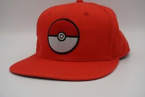c72b98521 Details about Genuine Pokemon 2016 Red Pokeball Hat Snapback Fits All