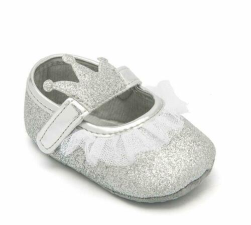 Infant Baby Girl Crown Outfit Pram Shoes Toddler Child Party Wedding Dress Shoes