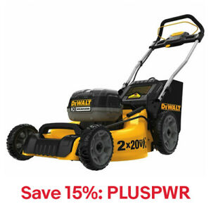 DeWALT DCMW220P2 20-Volt 20 5.0Ah 3-in-1 Cordless Lawn Mower,15% Off:PLUSPWR