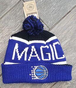 7e4ff88f491 ORLANDO MAGIC NBA 47  BRAND CALGARY CUFFED KNIT BEANIE HAT POM POM ...