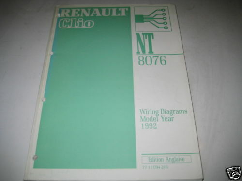 Wiring Diagrams Renault Clio  Stand 1992