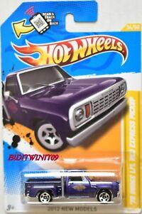 Hot-Wheels-2012-Nuovo-Modelli-78-Dodge-li-L-Rosso-Express-Pick-Up-Viola