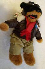 "Nanco Animaland Stuff Your Own Animal Stuffed Toy Aviator Dog 15"" NGT"