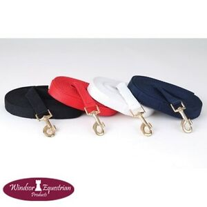 Windsor-Nylon-Lunge-Line-Rope-Rein-8-metres-Black-Navy-Red-White-FREE-P-amp-P