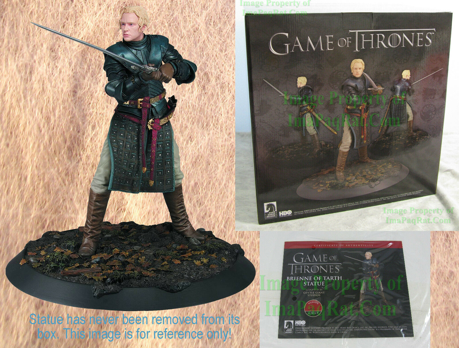 NIB Game of Thrones Brienne of Tarth Statue Limited Edition 950 w COA Deluxe 14