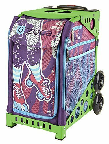 ZUCA Bag Roller Girl Insert & Green Frame w  Flashing Wheels