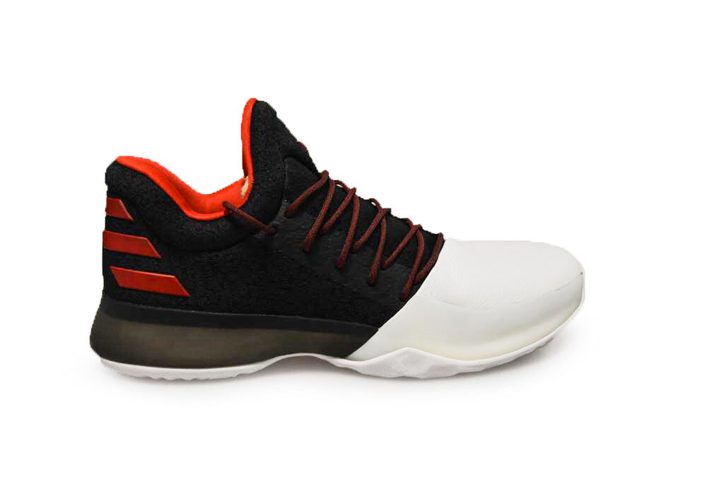 Mens Adidas Harden Vol.1 - BW0546 - Black White Red Trainers
