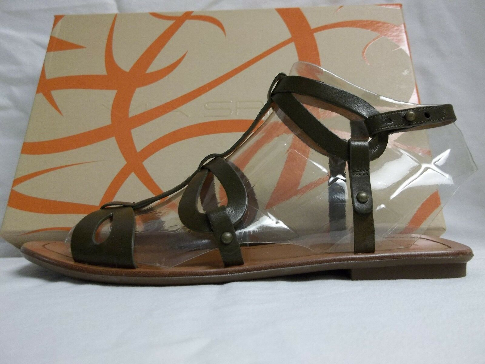 Via Spiga Sz 8.5 M Donnie Dark Sandales Olive Leder Gladiator Sandales Dark New Damenschuhe Schuhes 3a197d