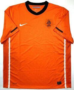 Nike NETHERLANDS 2010/11 XL Home Football Shirt Soccer Jersey KNVB Holland Top