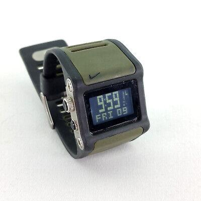 Nike Anvil Comold Watch Super Collection Digital Sport Wristwatch Green Black | eBay
