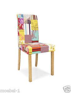 esszimmerstuhl polsterstuhl stuhl stoff patchwork bunt. Black Bedroom Furniture Sets. Home Design Ideas