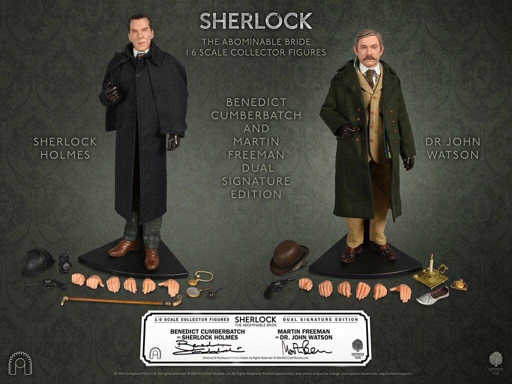 Sherlock abominable novia Watson Holmes 1 6 2PK Fig SGN Ed